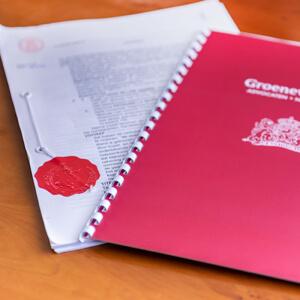 Groenewegen Notarissen Heerenveen verzegeld document